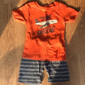 Carter's 2 piece pj set boys size 4T